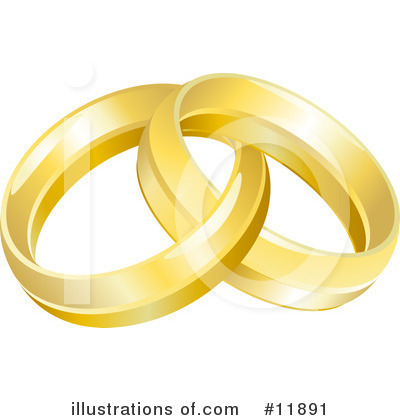 Wedding Ring Clipart #11891 by AtStockIllustration