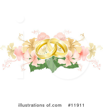 Wedding Ring Clipart #11911 by AtStockIllustration