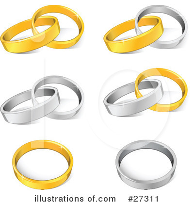 Wedding Rings Clipart #27311 by beboy
