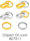 Royalty-Free (RF) Rings Clipart Illustration #27311