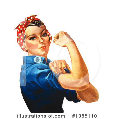 Rosie The Riveter Clipart #1085110 by JVPD