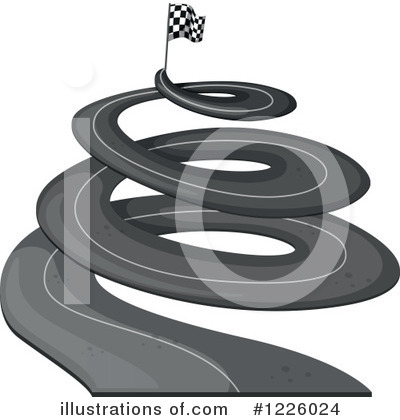 Road Clipart #1226024 by Graphics RF