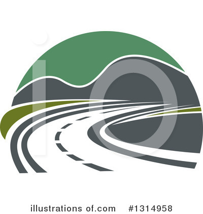 Road Clipart #1314958 by Vector Tradition SM