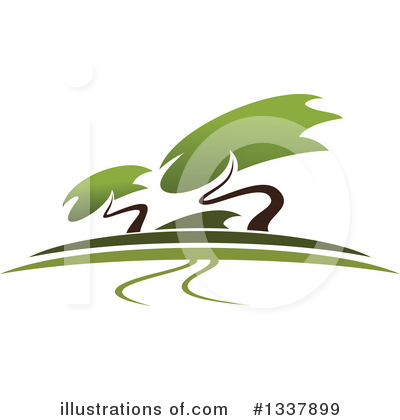Trees Clipart #1337899 by Vector Tradition SM