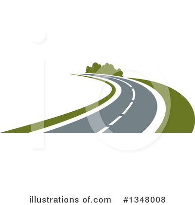 Road Clipart #1348008 by Vector Tradition SM