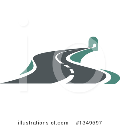 Road Clipart #1349597 by Vector Tradition SM