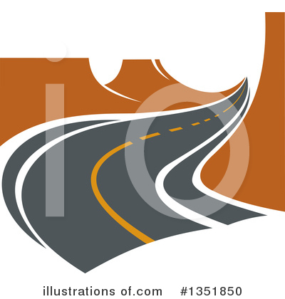 Road Clipart #1351850 by Vector Tradition SM