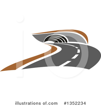 Road Clipart #1352234 by Vector Tradition SM