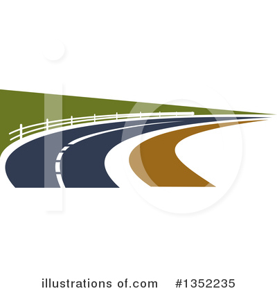 Road Clipart #1352235 by Vector Tradition SM