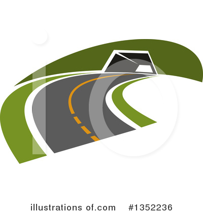 Road Clipart #1352236 by Vector Tradition SM