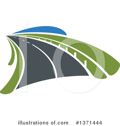 Road Clipart #1371444 by Vector Tradition SM