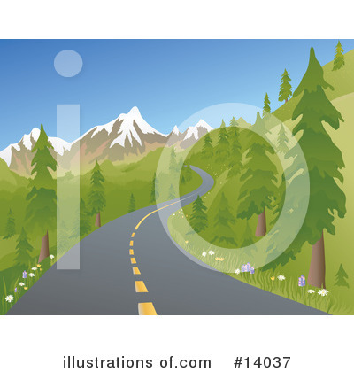 Road Clipart #14037 by Rasmussen Images