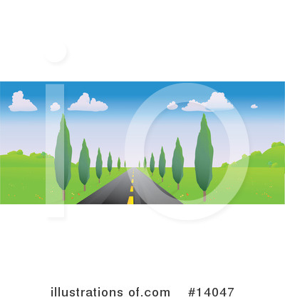 Road Clipart #14047 by Rasmussen Images