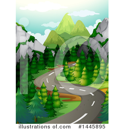Road Clipart #1445895 by Graphics RF