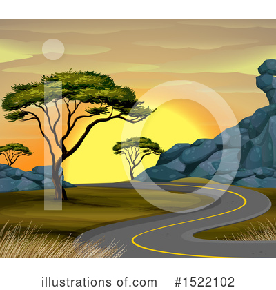 Road Clipart #1522102 by Graphics RF