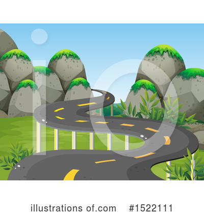 Road Clipart #1522111 by Graphics RF