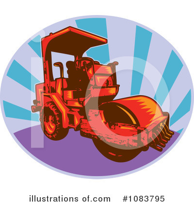 Road Roller Clipart #1083795 by patrimonio