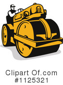 Road Roller Clipart #1125321 by patrimonio