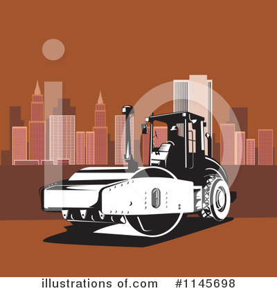 Road Roller Clipart #1145698 by patrimonio