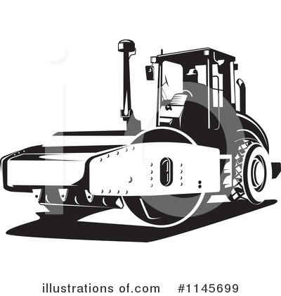 Road Roller Clipart #1145699 by patrimonio