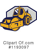 Road Roller Clipart #1193097 by patrimonio