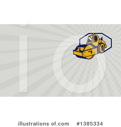 Road Roller Clipart #1385334 by patrimonio