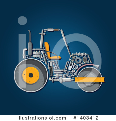 Road Roller Clipart #1403412 by Vector Tradition SM
