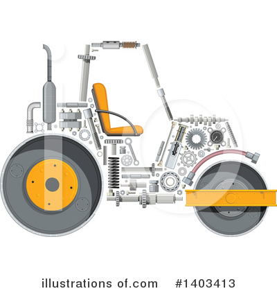 Heavy Machinery Clipart #1403413 by Vector Tradition SM