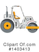Road Roller Clipart #1403413 by Vector Tradition SM