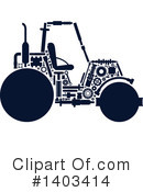 Road Roller Clipart #1403414 by Vector Tradition SM