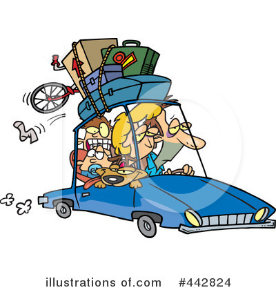 Royalty-Free (RF) Road Trip Clipart Illustration by Ron Leishman - Stock Sample #442824