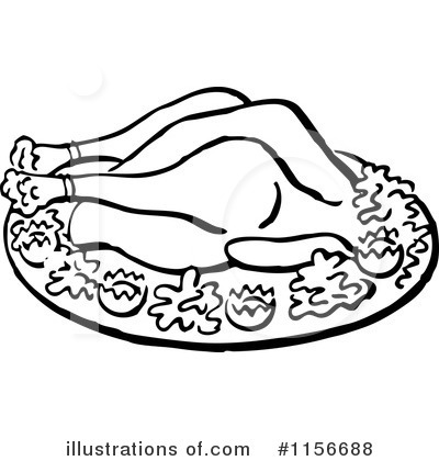 Roasted Turkey Clipart #1156688 by BestVector