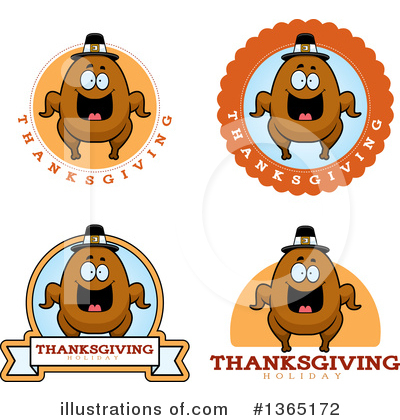 Royalty-Free (RF) Roasted Turkey Clipart Illustration by Cory Thoman - Stock Sample #1365172