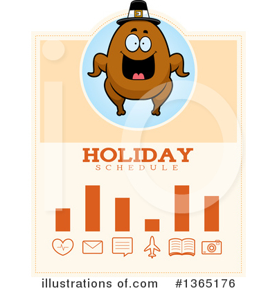 Royalty-Free (RF) Roasted Turkey Clipart Illustration by Cory Thoman - Stock Sample #1365176