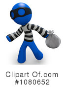 Royalty-Free (RF) robber Clipart Illustration #1080652