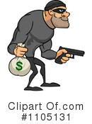 Royalty-Free (RF) robber Clipart Illustration #1105131