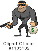 Robber Clipart #1105132 by Cartoon Solutions