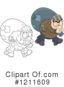 Royalty-Free (RF) Robber Clipart Illustration #1211609