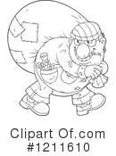 Royalty-Free (RF) Robber Clipart Illustration #1211610