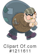 Royalty-Free (RF) Robber Clipart Illustration #1211611