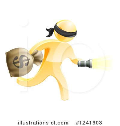 Robber Clipart #1241603 by AtStockIllustration