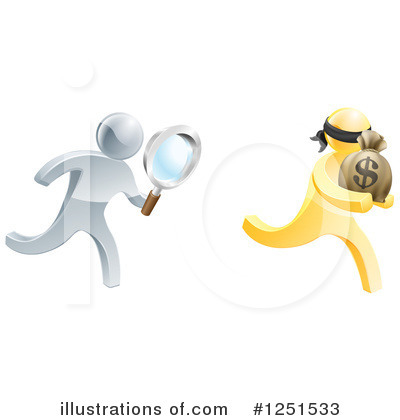 Royalty-Free (RF) Robber Clipart Illustration by AtStockIllustration - Stock Sample #1251533