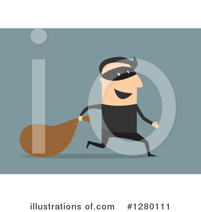 Robber Clipart #1280111 by Vector Tradition SM