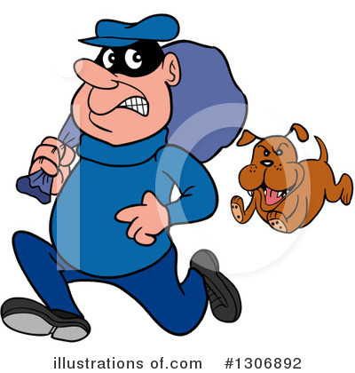 Robber Clipart #1306892 by LaffToon