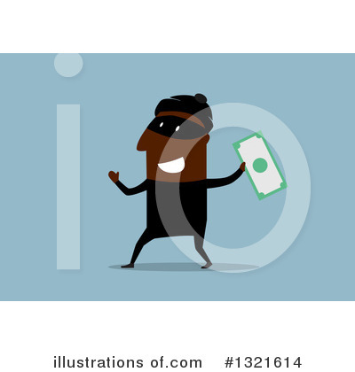 Robber Clipart #1321614 by Vector Tradition SM