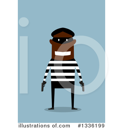 Robber Clipart #1336199 by Vector Tradition SM