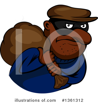 Royalty-Free (RF) Robber Clipart Illustration by Vector Tradition SM - Stock Sample #1361312