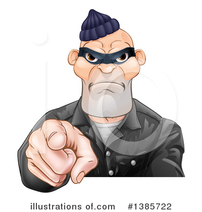 Robber Clipart #1385722 by AtStockIllustration