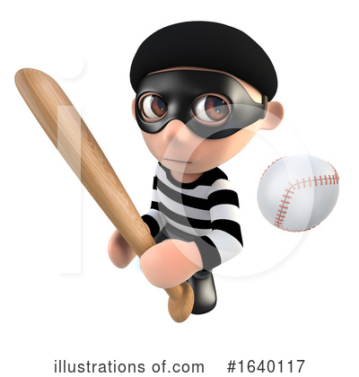 Baseball Clipart #1640117 by Steve Young