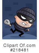 Royalty-Free (RF) robber Clipart Illustration #218481